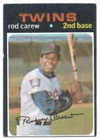 3 Card Lot - 1971 1973 1978 Topps Rod Carew Vintage Baseball Minnesota Twins HOF