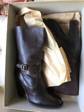 J Crew Boots Tenley Vachetta High Heel Midboots Chocolate 86194 Sz 8 $199.00 New
