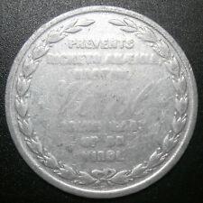 Advertising medallion - VIROL obstetric calendar - made by Bovril alumin. 38.5mm