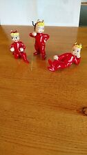 Vintage Lefton Red Devil Christmas Figurine/ Japan  Lot of 3