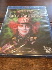 Alice in Wonderland (Blu-ray Disc, 3D Only) Brand New Sealed.!!!