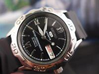 Classic Black Dial 41mm SS Seiko Sports 5 7S36A Day/ Date Automatic