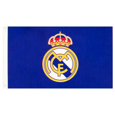 Real Madrid FC Core Crest Flag 5' X 3' ft Banners For Window Car Xmas Gift New