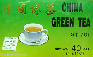 GREEN TEA BAGS CHINESE x 100 Aid Detox Diet Pure Quality FREE TRACKING BBF 2023