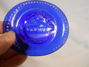 Vintage Boyd's CRYSTAL ART GLASS 1992 COBALT BLUE DISH SMALL TRAY Cherokee Iowa