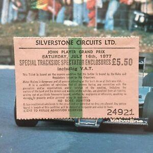 Gilles Villeneuve's 1st F1 Race Ticket+Prgrm @1977 British GP Only McLaren Drive