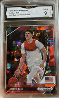2020-21 Panini Prizm Lamelo Ball Rookie Red Ice Cracked #43 MINT 9 Hornets SP