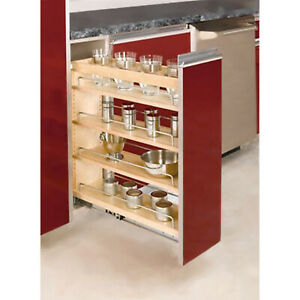 "Rev-A-Shelf Pull Out Organizer For Base Cabinet 6-1/2"" x 22-7/16"" Maple Wood"