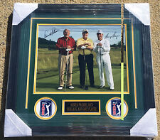 Masters Champs ARNOLD PALMER JACK NICKLAUS GARY PLAYER Signed Autographed Photo!