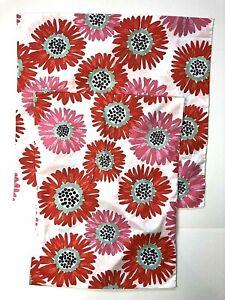 Pottery Barn Teen Bright Blossoms EURO STANDARD Pillow SHAMS Orange Daisies