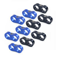 6 8 10 12 AN Hose Separator Clamp Fitting Adapter for Braided Oil Fuel Hose Line