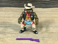 TMNT 1992 Crazy Cowboy Don Wild West Donatello Vintage Playmates Mirage Studios