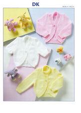 baby cardigans /boleros dk knitting pattern