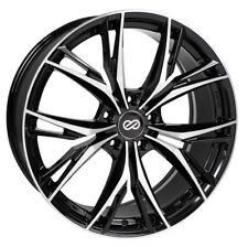 18x8 Enkei ONX 5x108 +40 Black Machined Rims Fits Ford Focus Thunderbird