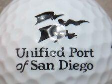 (1) Unified Port Of San Diego California Logo Golf Ball