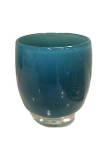 Glassybaby Deep Sea Blue Rare and Retired with sticker