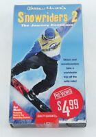Warren Miller's Snowriders 2 VHS Snowboarding Blockbuster Resealed Previewed