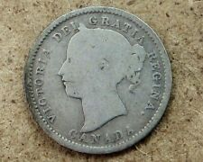 Canada 1899 Silver 10 Cents Coin KM#3