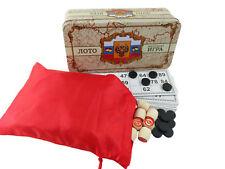 Bingo, Russisches Loto, Lottospiel, Gesellschaftsspiel, Русское лото, Metallbox