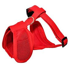 RED Dog Puppy Pet Adjustrable Harness Vest Soft Mesh Handmade with Clip