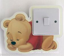 Glow in the Dark Baby Winnie Light Switch Wall Sticker