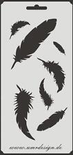 Scrapbook Stencil S-106  Feathers ~ Craft ~ UMR-Design
