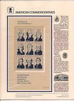 CP263-66 #2216-19 1986 PRESIDENTS COMMEMORATIVE PANELS-