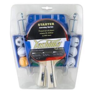 Yashima 4 Player Table Tennis Set with Net & Post 4x Bats 6 x Balls and Storage
