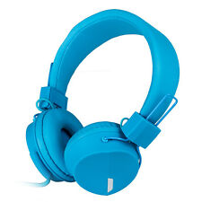 Rockpapa OverEar Foldable Headsets Headphones Mic for iPhone Android PHONES Blue
