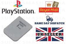 1 Mb Tarjeta De Memoria Para Sony Playstation 1 PS1 PSX 15 bloques-Nuevo