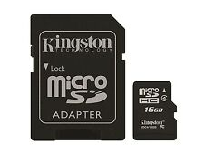 Kingston Digital 16GB Micro SD Memory Card Micro SDHC Card with Adapter