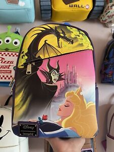 Sleeping Beauty/Maleficent DEC Loungefly Mini Backpack !! New With Tags!