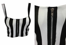 Party Striped Sleeveless Other Tops for Women