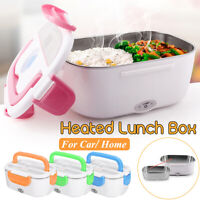2 In 1 Portable Electric Heated Car + Home Plug Heating Lunch Box Bento Food Box