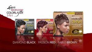 2x Luster's Shortlooks ColorLaxer 3-N-1 Hair Relaxer Kit  Relax & Colour
