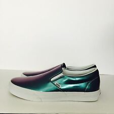 Vans Classic Slip-On Men 10 Rare Hologram Skate Shoe Supreme Wtaps Adidas Blue 1