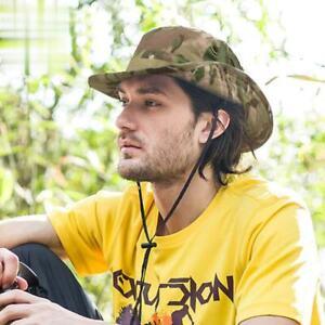 Boonie Bucket Hat Hunting Fishing Wide Brim Mesh Camo Safari Sun Cap Hat for Men