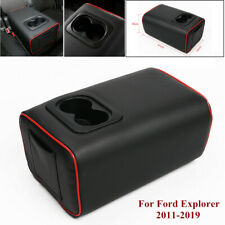 Car Rear Row Seat Central Armrest Box Cup Holder Fit for Ford Explorer 2011-2019