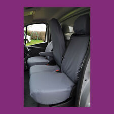 Renault Trafic 2014+ Front 3 (Folding) Tailored Waterproof Grey Seat Covers