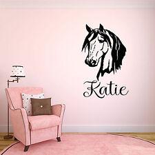 Personalised Horse Childrens Wall Art Sticker Bedroom/Nursery Boys/Girls