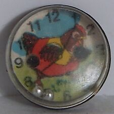VINT PALM DEXTERITY PUZZLE GUMBALL PRIZE RED HEN & CLOCK FACE