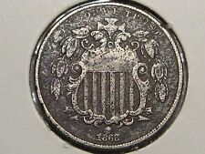 1868 US 5 Cent Nickel.  #14