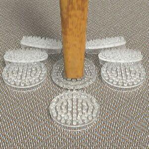 Chair Leg Floor Protectors x 8 Carpet Savers Furniture Cups Table Plastic Feet