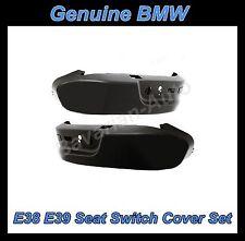BMW E38 E39 525i 528i 530i 540i 740i 740iL Seat Switch Side Cover Set BLACK