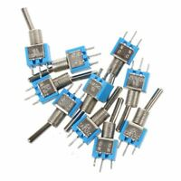 10PCS SPDT On/On 2 Position Miniature Toggle Switch AC 125V/3A D1P6