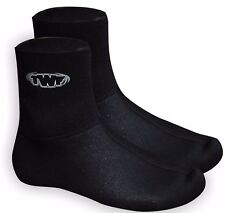 TWF 3mm NEOPRENE WETSUIT SOCKS Sz 3-12 Adults kids junior kayak jetski dive