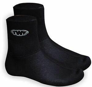 TWF 3mm NEOPRENE WETSUIT SOCKS Sz 3-12 Adults kids boots kayak swimming dive sup