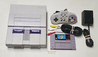 Original Super Nintendo Console Super Mario World Bundle SNES System