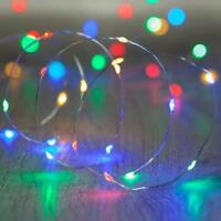20/30/50 Battery LED Multi Colour Fairy String Lights Micro Wire Copper party