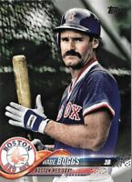 WADE BOGGS 2018 Topps Update Short-Print SP Photo Variation #US23 RED SOX